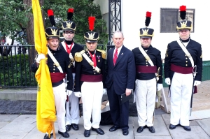 Mayor and Color Guard